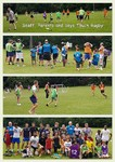 Touch rugby boys, staff and parents