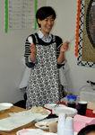 Mrs Kim prepares a traditional Korean meal for the class.